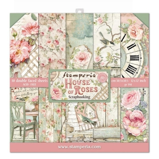 HOUSE OF ROSES - sada scrapbook papierov 12x12 inch
