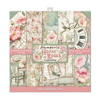 HOUSE OF ROSES - sada scrapbook papierov 8x8 inch