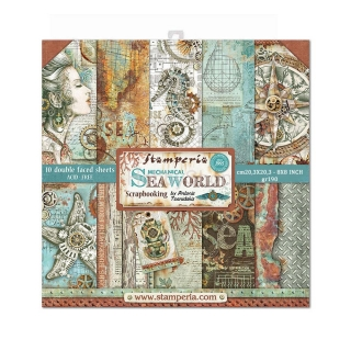 SEA WORLD - sada scrapbook papierov 8x8 inch