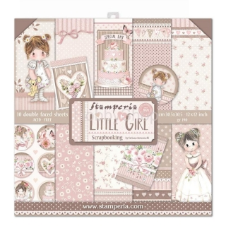 STAMPERIA.LITTLE GIRL - sada scrapbook papierov 12x12 inch