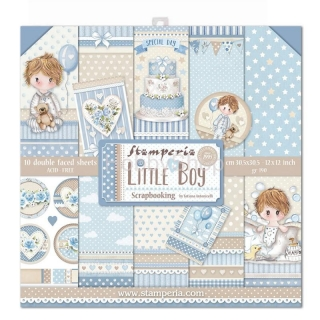STAMPERIA.LITTLE BOY - sada scrapbook papierov 12x12 inch