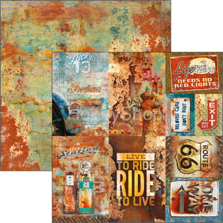 RUSTED CARDS - scrapbook papier 12x12inch