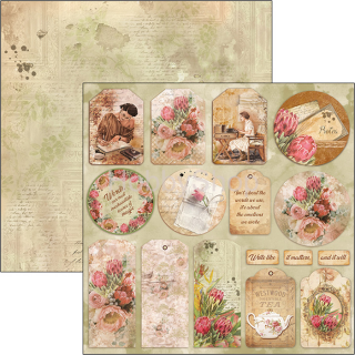 The Muse - TAGS - scrapbook papier 12x12inch