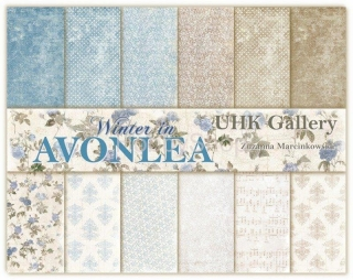 Avonlea  WINTER - sada scrapbook papierov 12x12 inch_6ks