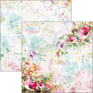 MICROCOSMOS -Wildflowers - scrapbook papier 12x12inch