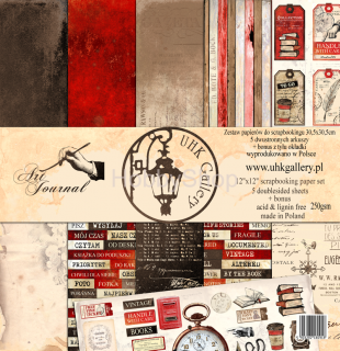 ART JOURNAL - sada  scrapbook papierov 12x12 inch