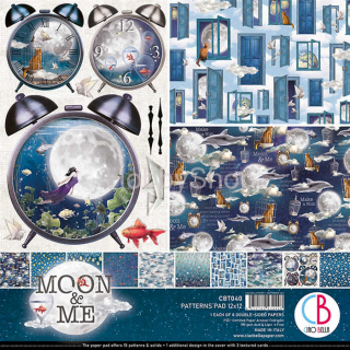 "MOON & ME ""basic"" - sada 8ks scrapbook papierov 12x12 inch"