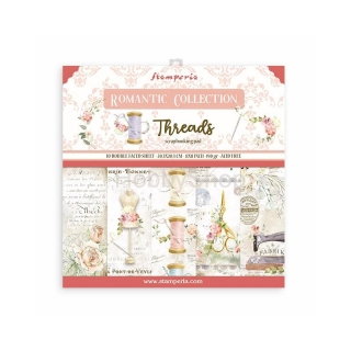 THREADS - sada scrapbook papierov 8x8 inch