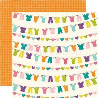 Echo Park Little Girl - Laundry Lucy - scrapbook papier 12x12 inch