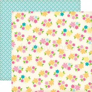 Echo Park Country Drive - Daisy Field - scrapbook papier 12x12 inch