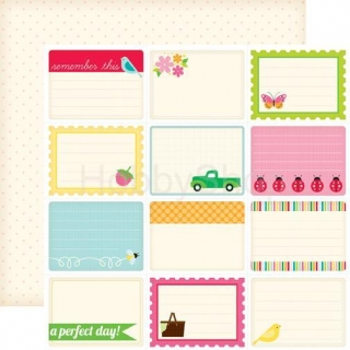 Echo Park Country Drive Journaling Cards - scrapbook papier 12x12 inch