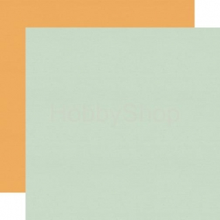Sweet Day - Light Teal/Orange - scrapbook papier 12x12 inch