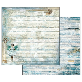 Blue Stars - Fairy with Star / scrapbook papier 12x12inch