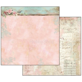 Sweet Christmas - Border with Roses / scrapbook papier 12x12 inch