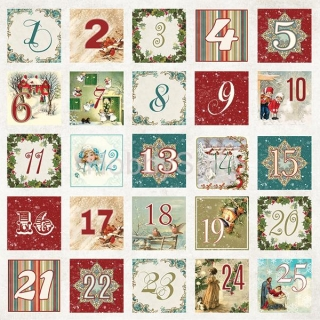 White Christmas 07 / scrapbook papier 12x12 inch