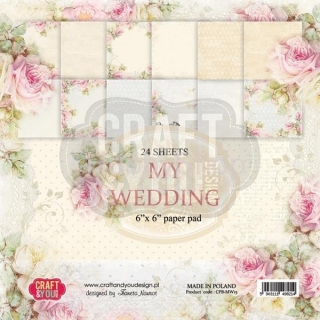 My Wedding - sada scrapbookových papierov_12ks_6x6inch