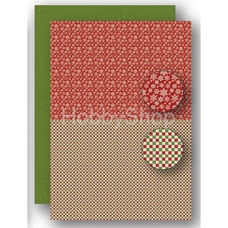 A4 papier na pozadie Christmas red - Snowflakes