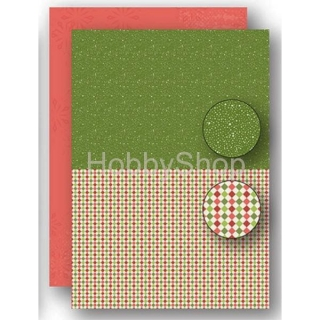 A4 papier na pozadie Christmas green - Dots