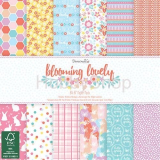 Blooming lovely - sada scrapbook papierov 12ks_6x6 inch