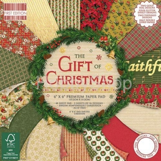 The GIFT of CHRISTMAS -Sada 16 ks papierov / 6x6inch