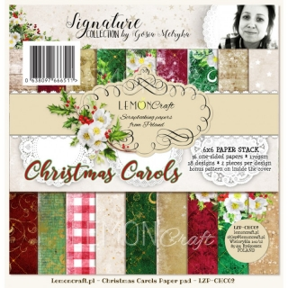 Christmas Carols - sada scrapbook papierov_18ks_ 6x6 inch