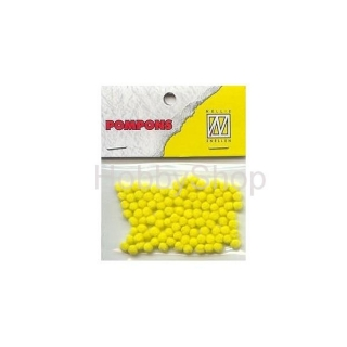 Mini bambuľky -pompons_3mm_100ks_yellow