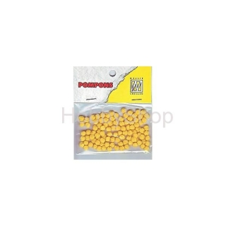 Mini bambuľky -pompons_3mm_100ks_daffodil