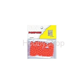 Mini bambuľky -pompons_3mm_100ks_orange