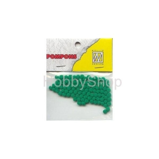 Mini bambuľky -pompons_3mm_100ks_Kelly green
