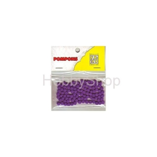 Mini bambuľky -pompons_3mm_100ks_Purple