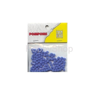 Mini bambuľky -pompons_3mm_100ks_light blue