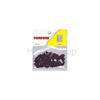 Mini bambuľky -pompons_3mm_100ks_Black