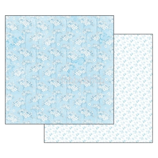 BABY BOY flowers tapestry / scrapbook papier 12x12 inch
