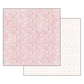 BABY GIRL flowers tapestry / scrapbook papier 12x12 inch