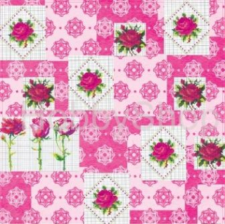 Scrapbook papier FLORAL EMBROIDERY - Cross Stitch